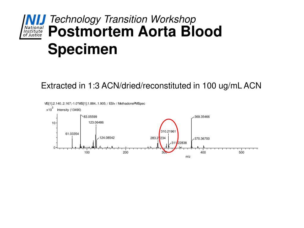 Postmortem Aorta Blood Specimen