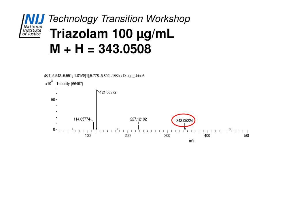 Triazolam 100 µg/mL