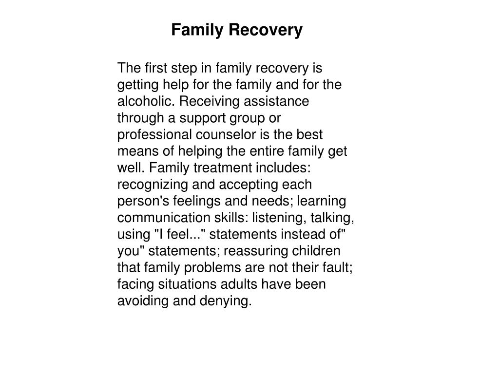 Family Recovery