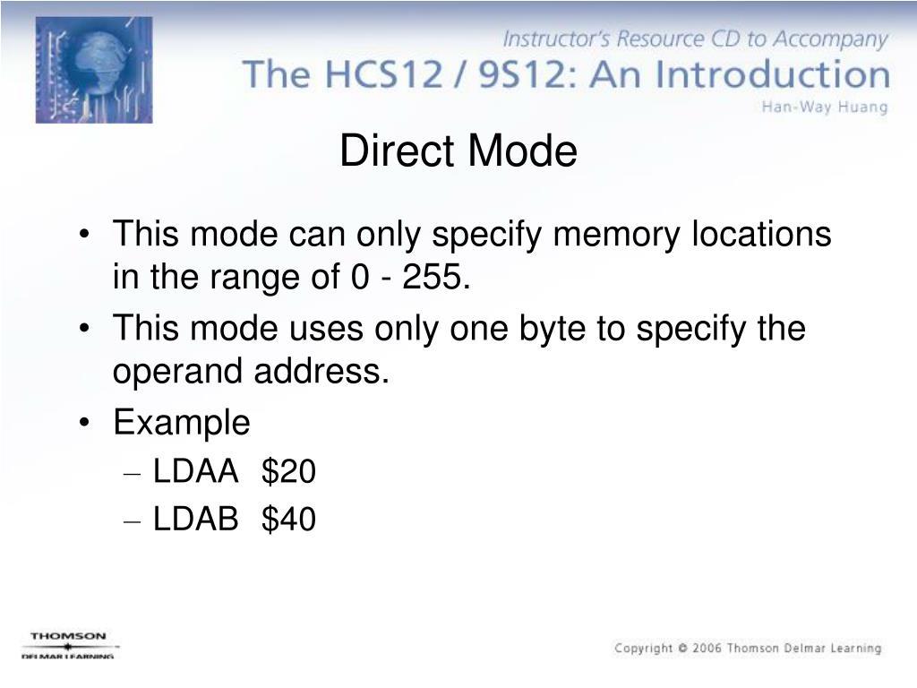 Direct Mode