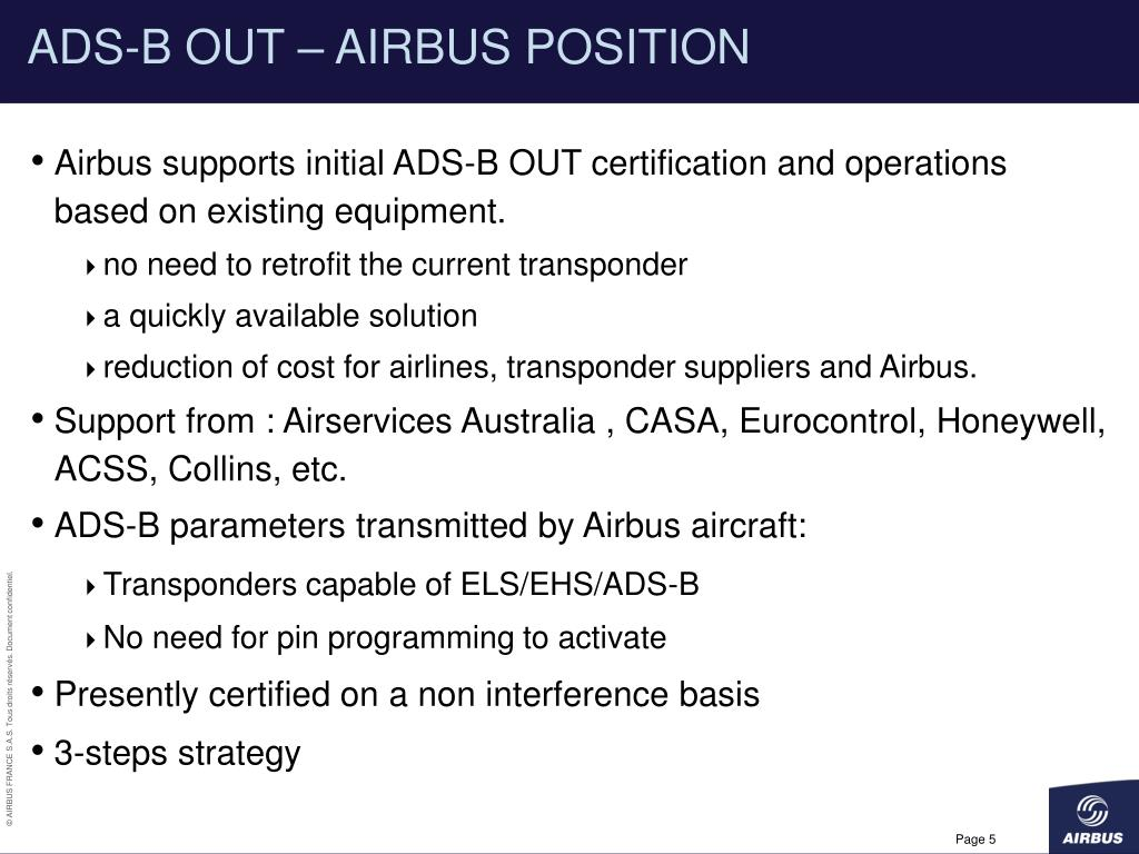 ADS-B OUT – AIRBUS POSITION