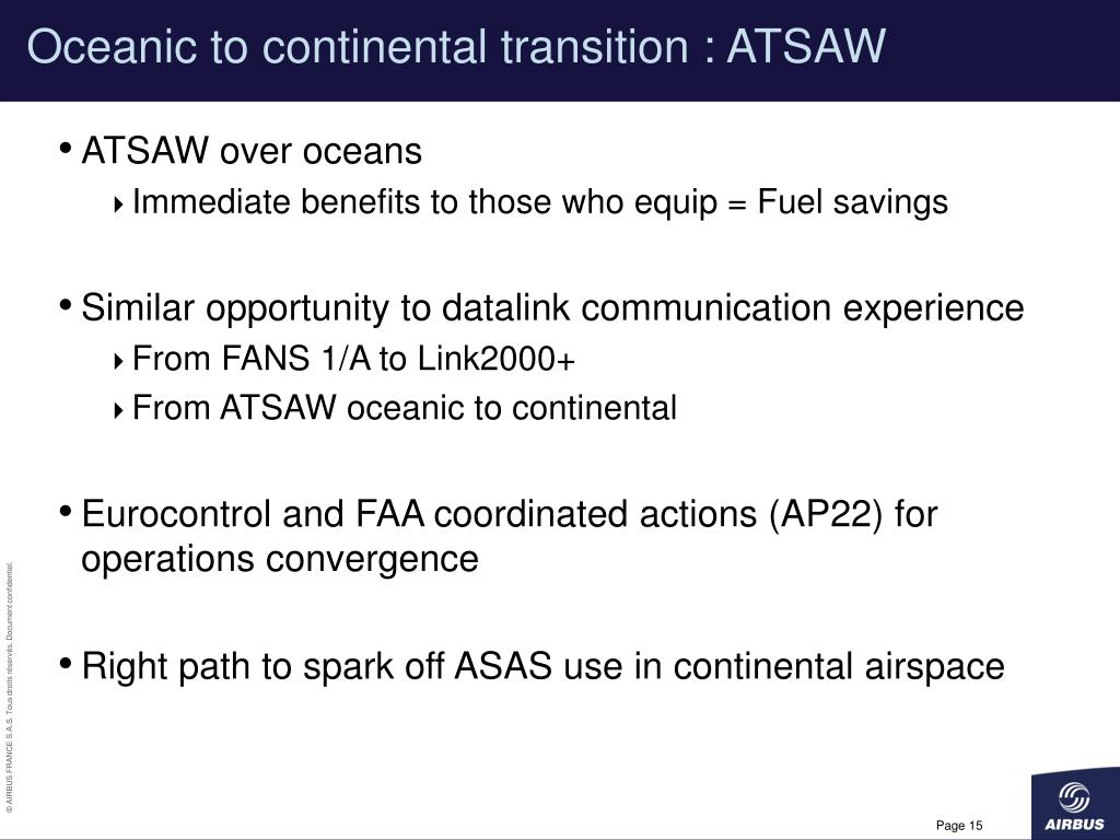 Oceanic to continental transition : ATSAW