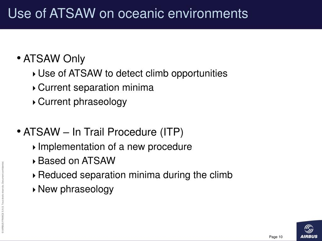 Use of ATSAW on oceanic environments