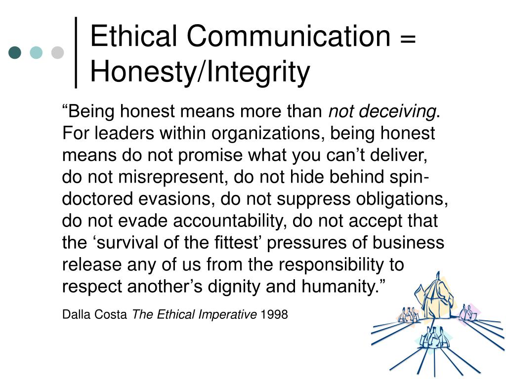 ethics in business communication Importance & impact of ethical communication in today's business ethics provides the guidelines with regards to acceptable behavior by organizations in.