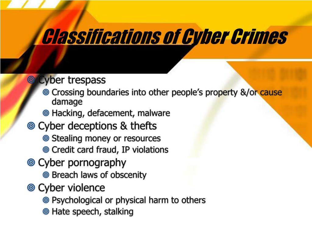 Classifications of Cyber Crimes