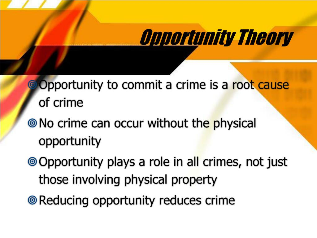 Opportunity Theory