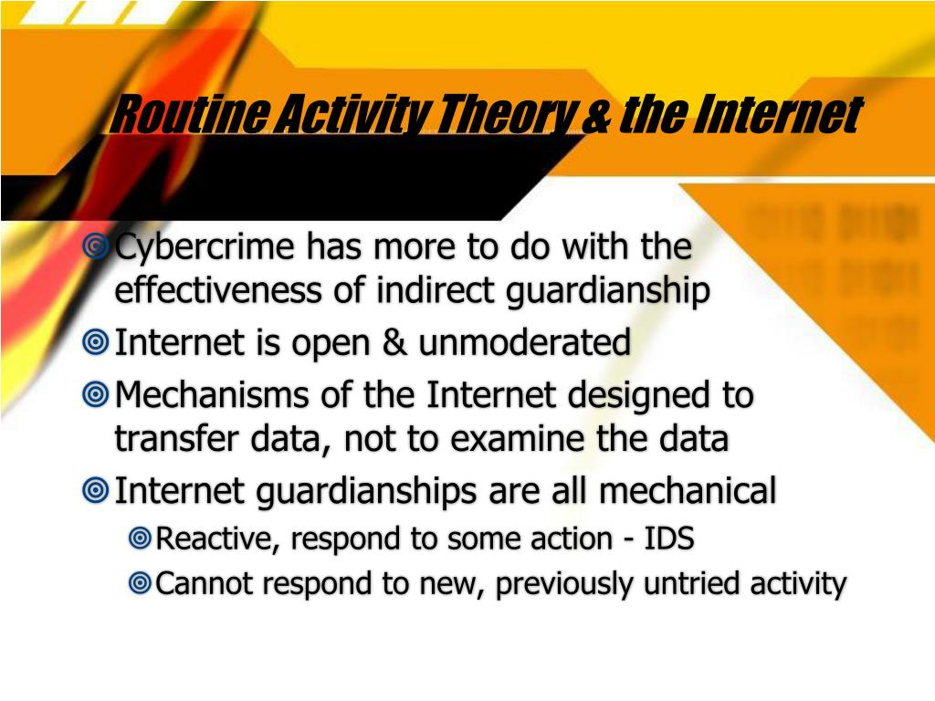Routine Activity Theory & the Internet