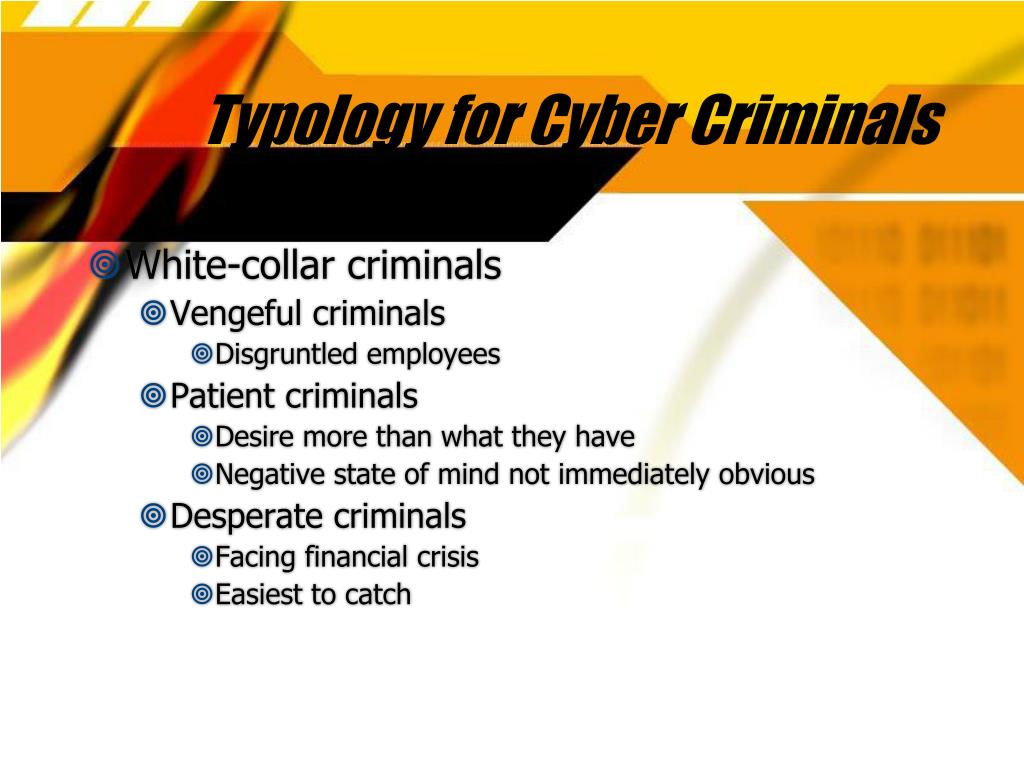 Typology for Cyber Criminals