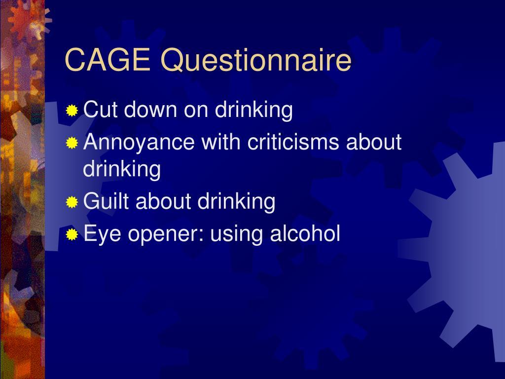 CAGE Questionnaire