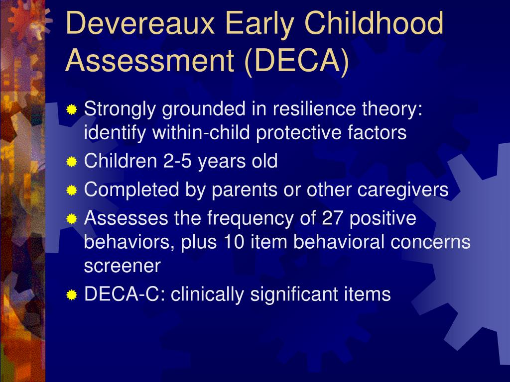Devereaux Early Childhood Assessment (DECA)