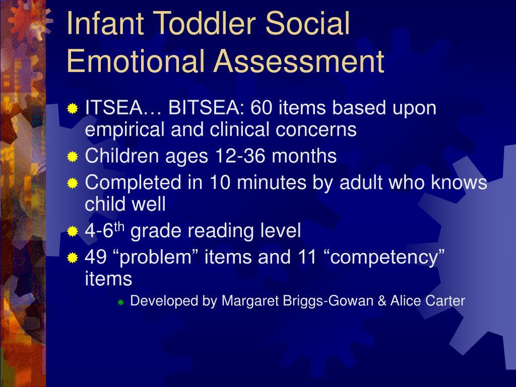 Infant Toddler Social Emotional Assessment