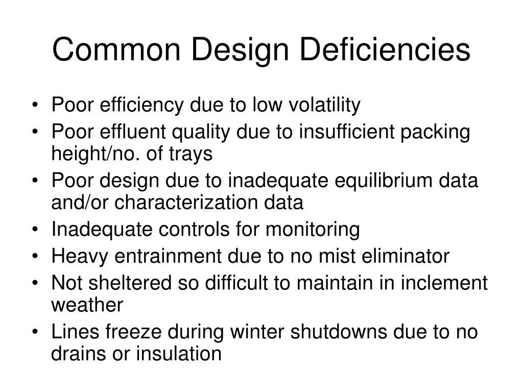 Common Design Deficiencies