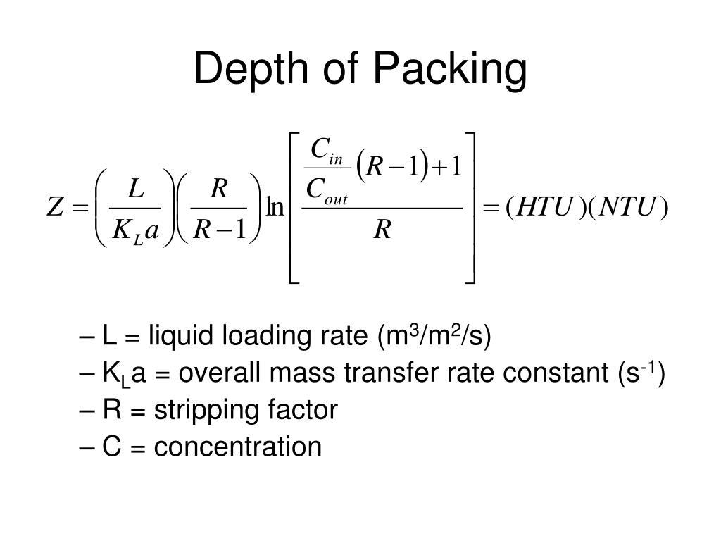 Depth of Packing