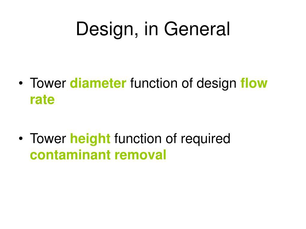 Design, in General