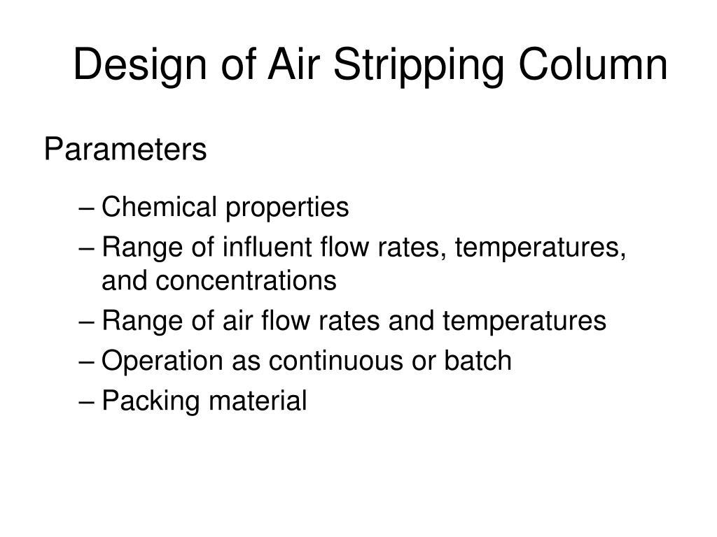 Design of Air Stripping Column