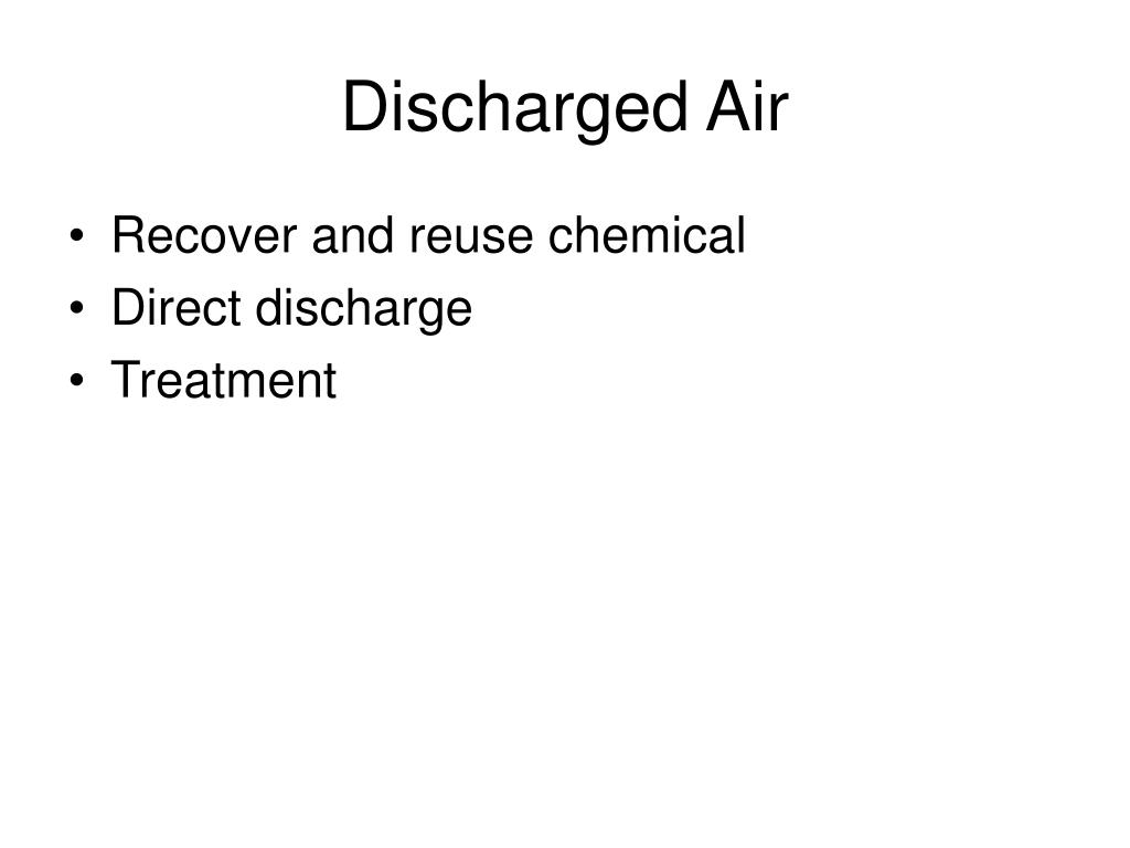 Discharged Air