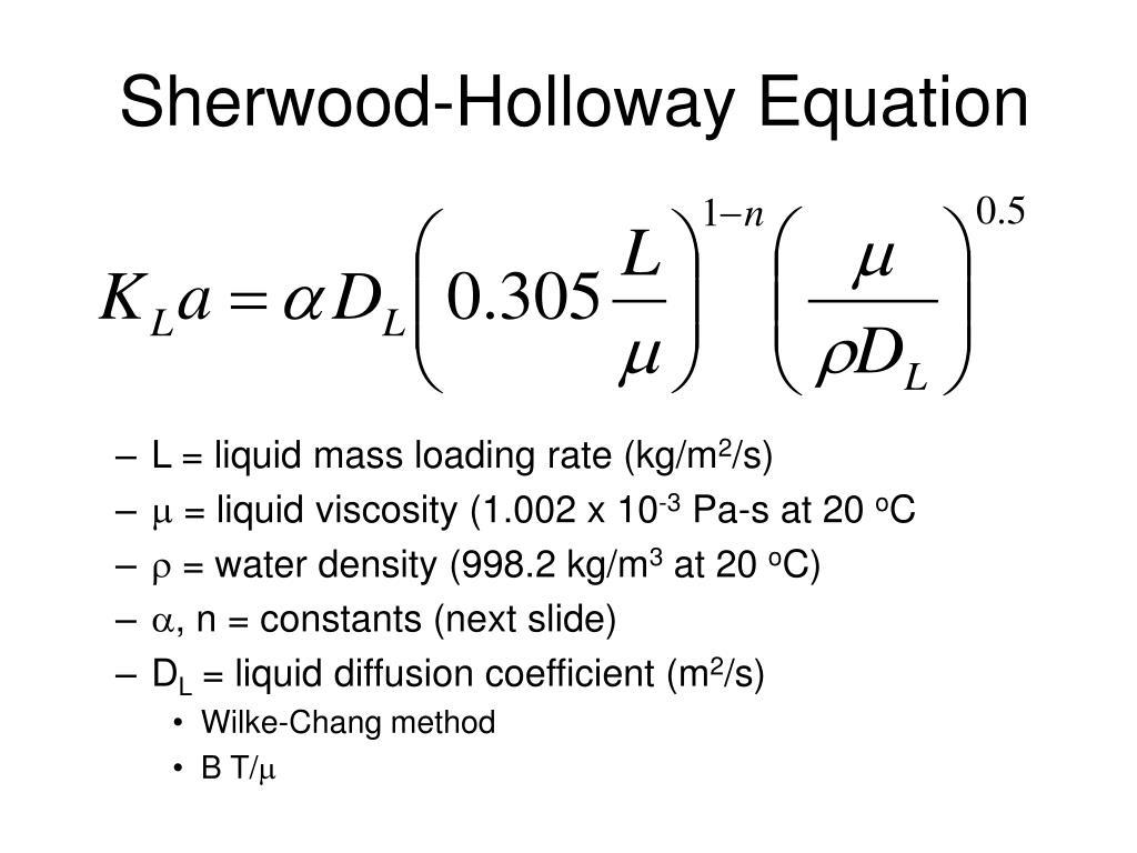Sherwood-Holloway Equation