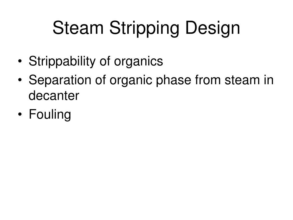 Steam Stripping Design