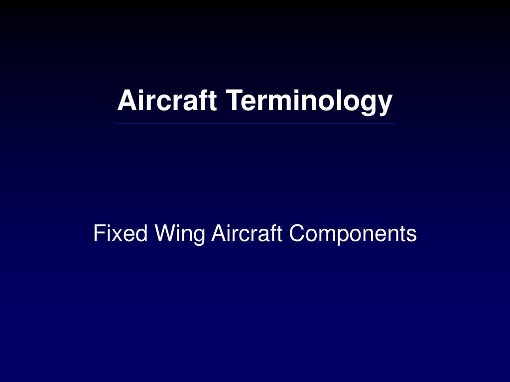 Aircraft Terminology