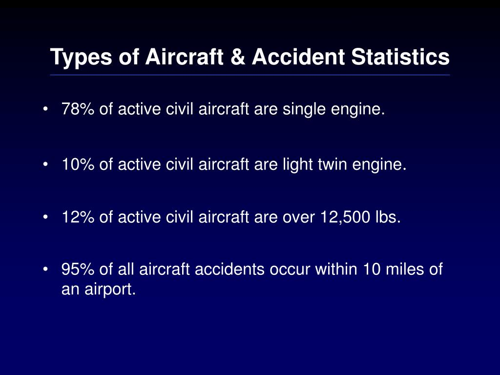 Types of Aircraft & Accident Statistics