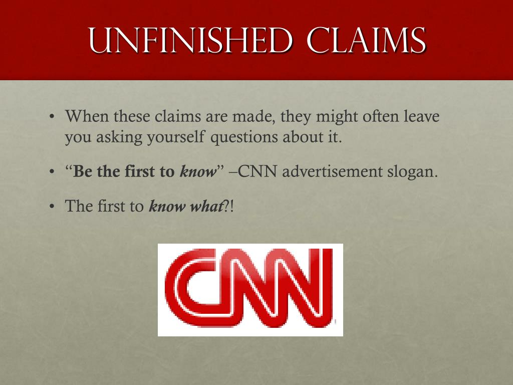 Unfinished Claims