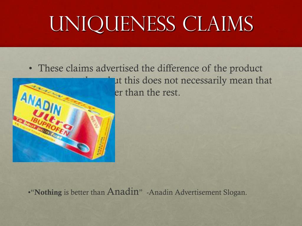Uniqueness Claims