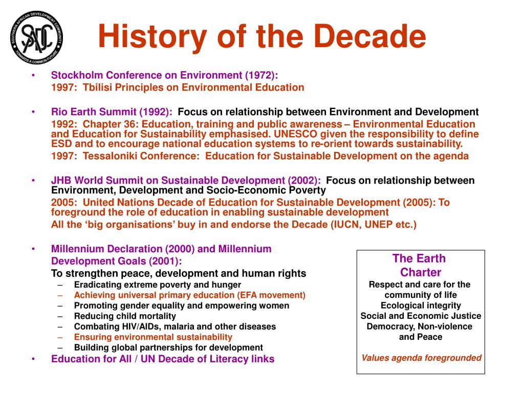 History of the Decade