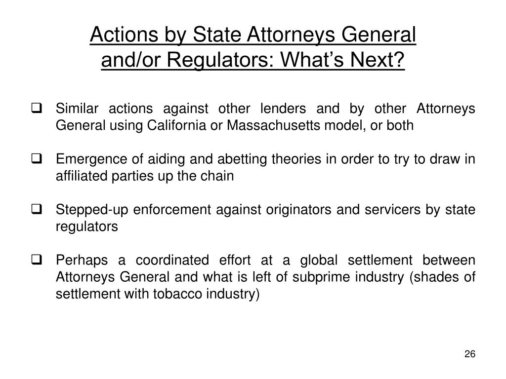 Actions by State Attorneys General