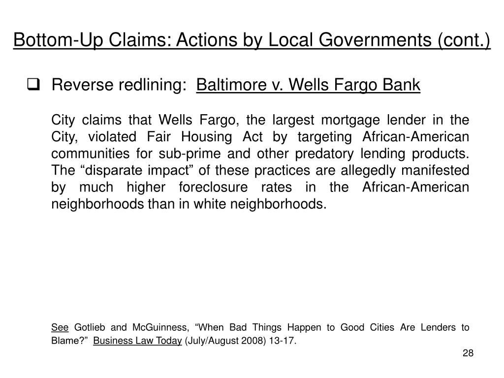Bottom-Up Claims: Actions by Local Governments (cont.)