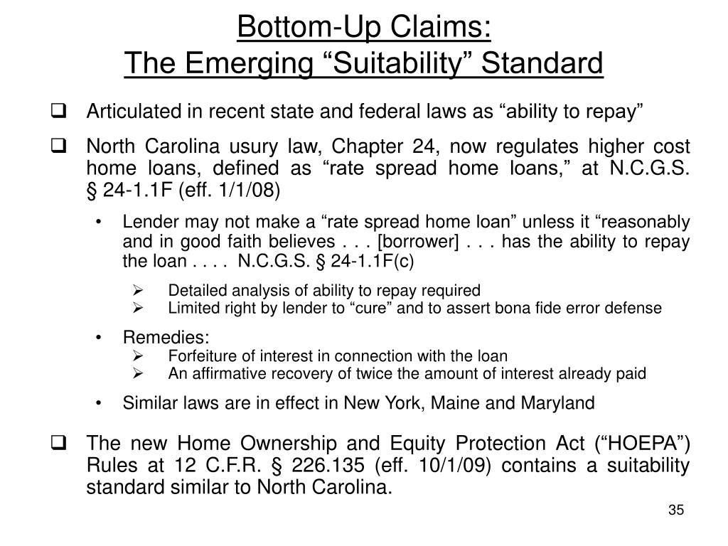 Bottom-Up Claims: