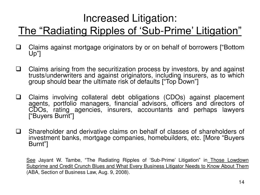 Increased Litigation: