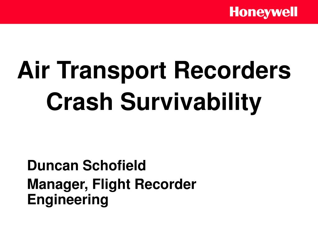 Air Transport Recorders