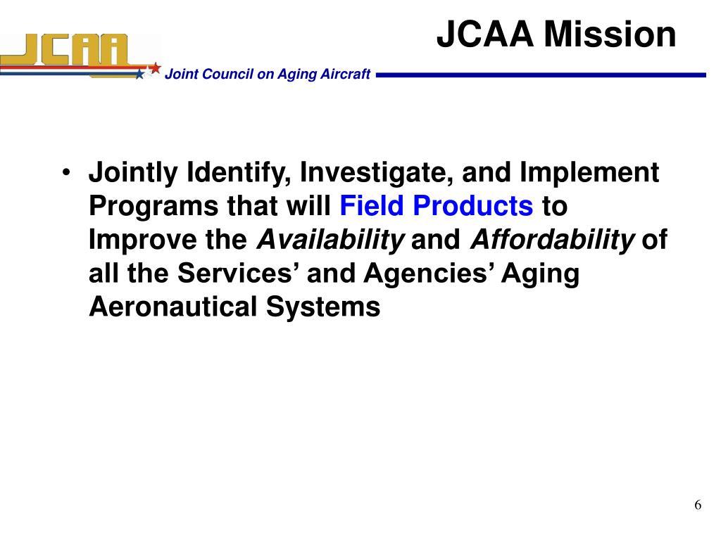 JCAA Mission