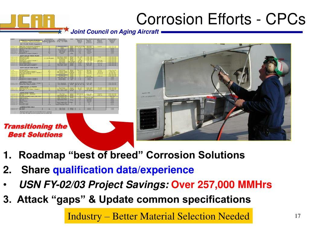 Corrosion Efforts - CPCs