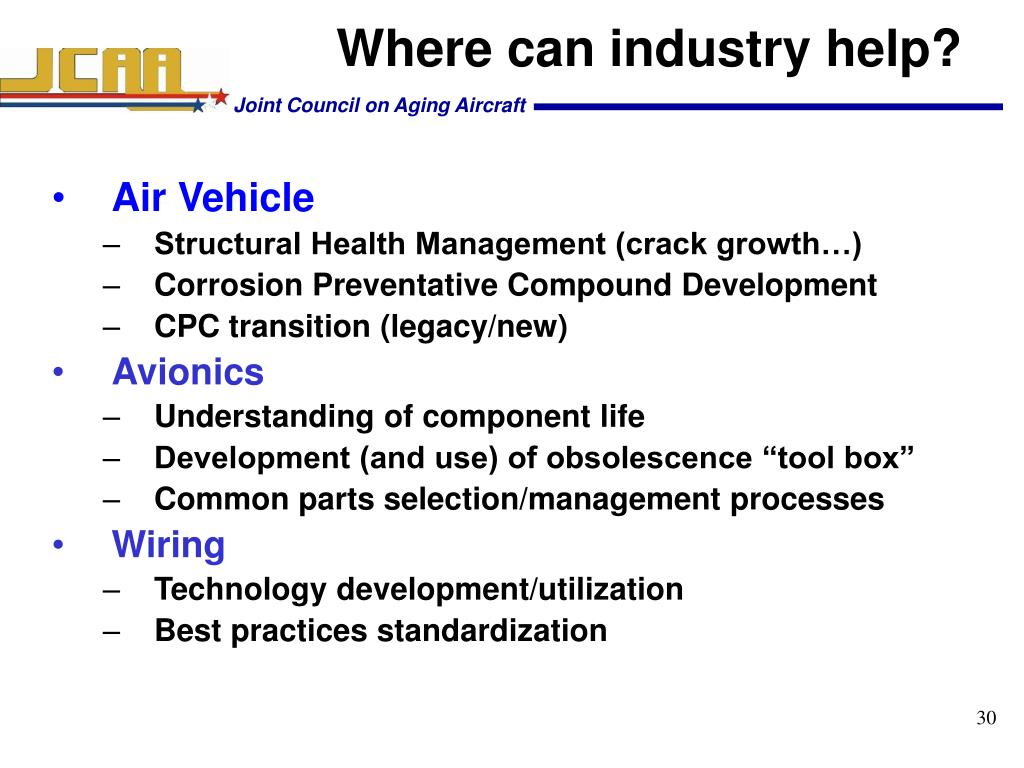 Where can industry help?