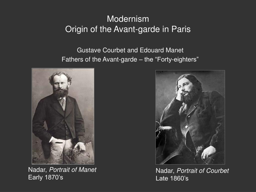 Gustave Courbet and Edouard Manet