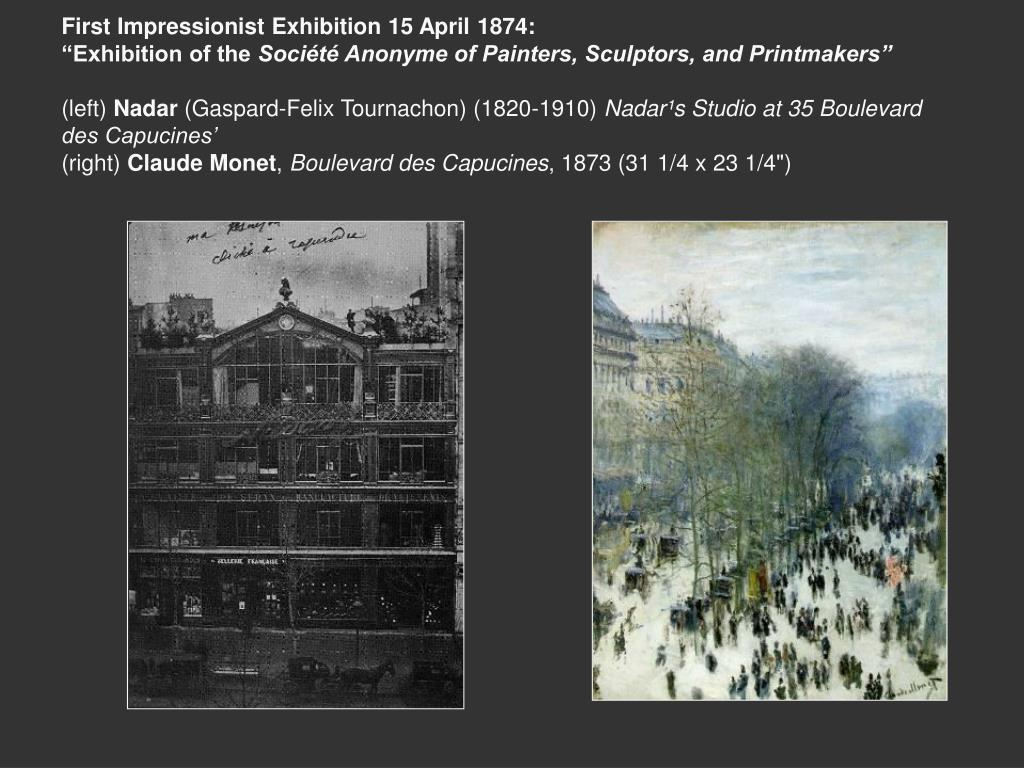 First Impressionist Exhibition 15 April 1874: