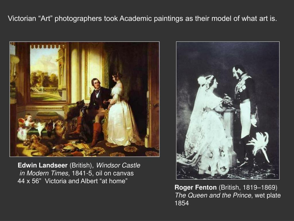 """Victorian """"Art"""" photographers took Academic paintings as their model of what art is."""