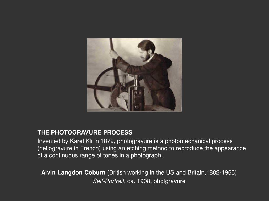 THE PHOTOGRAVURE PROCESS