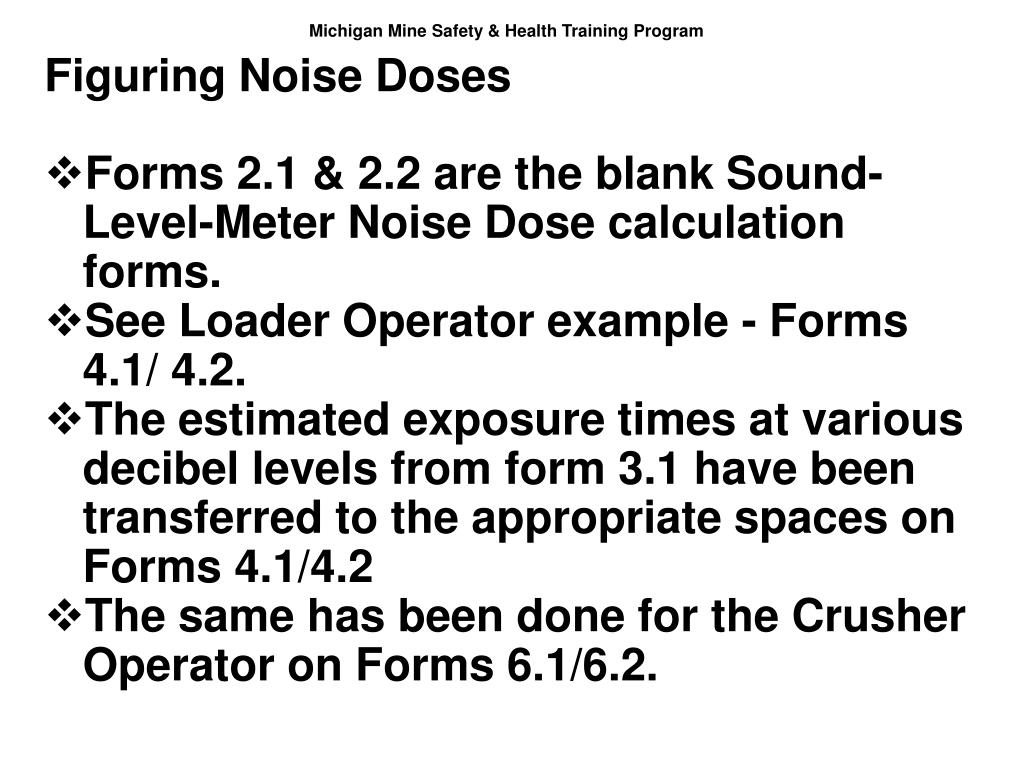 Figuring Noise Doses