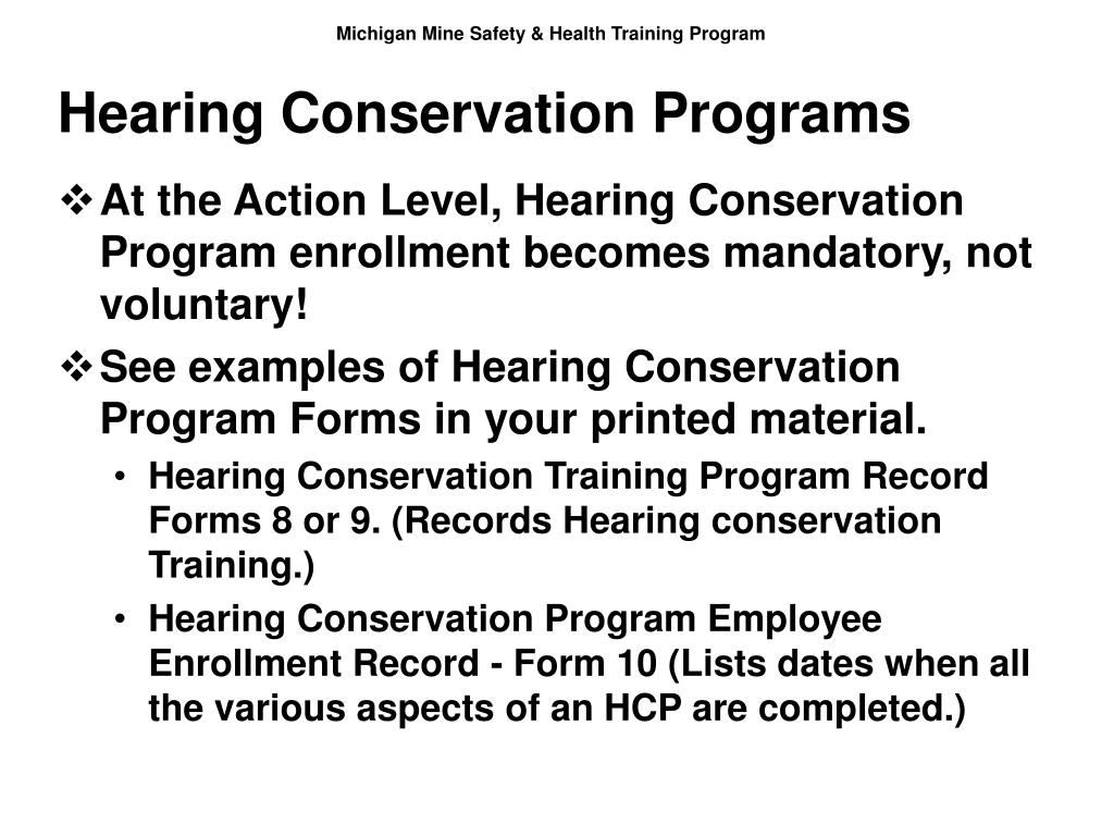 Hearing Conservation Programs