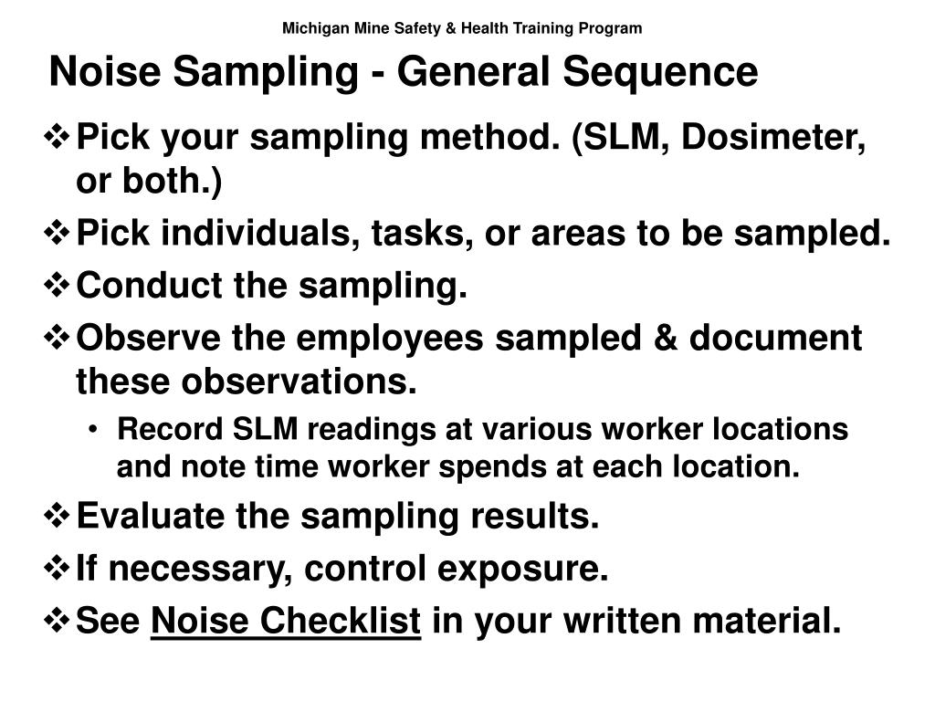 Noise Sampling - General Sequence