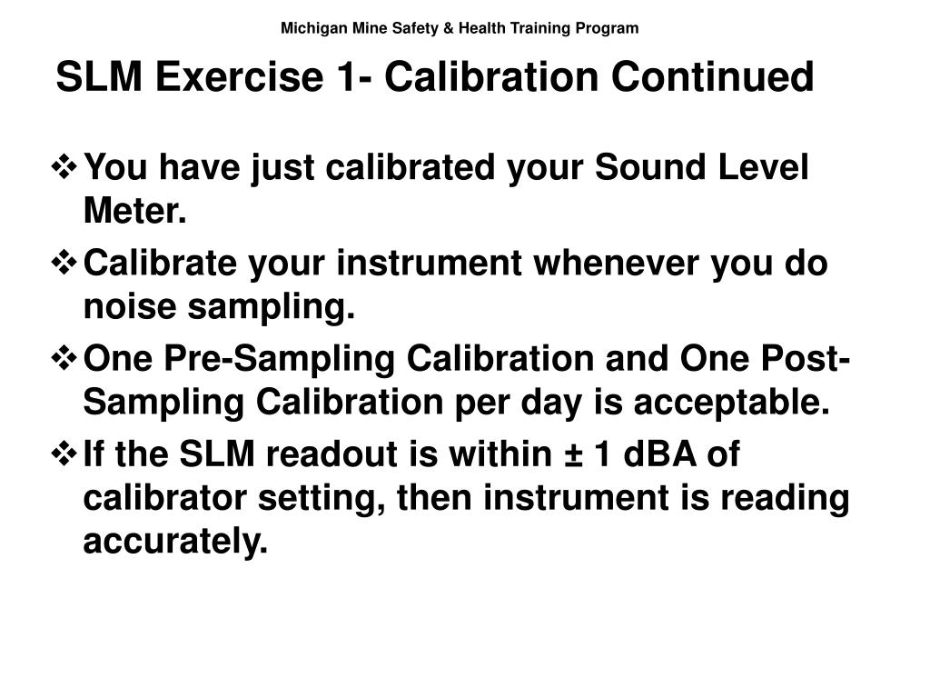 SLM Exercise 1- Calibration Continued