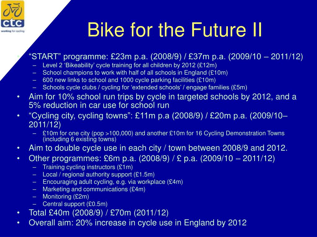 Bike for the Future II
