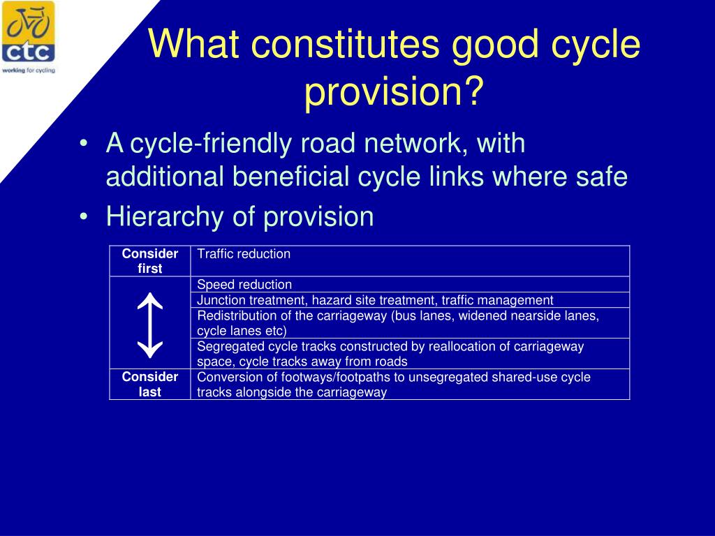 What constitutes good cycle provision?