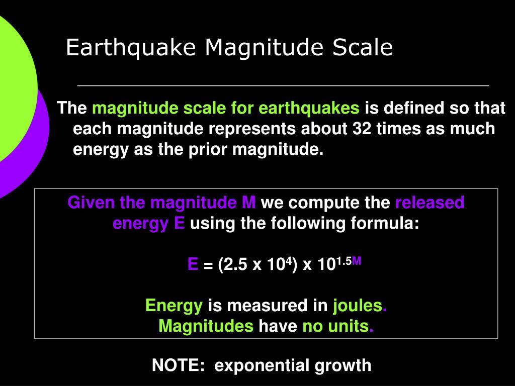 Earthquake Magnitude Scale