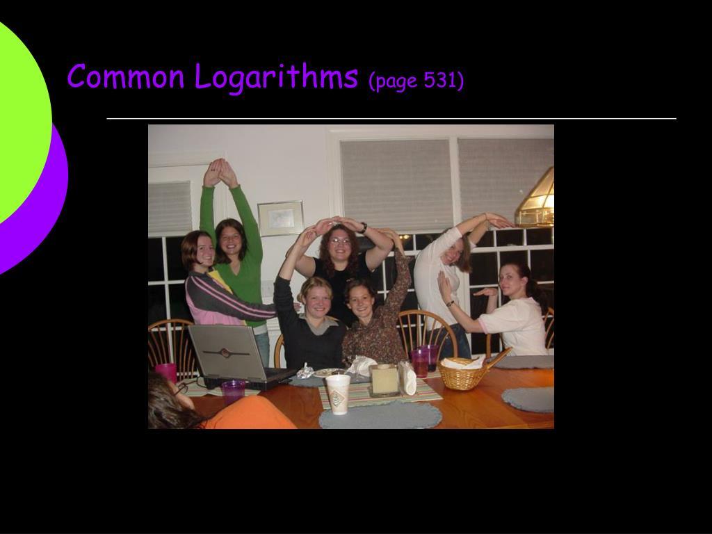 Common Logarithms