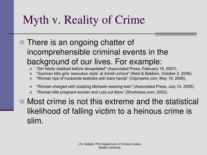 Myth v reality of crime