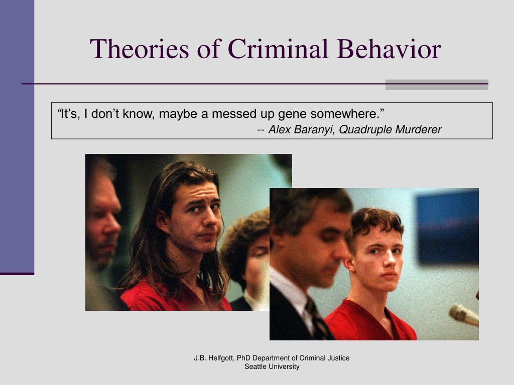 Theories of Criminal Behavior