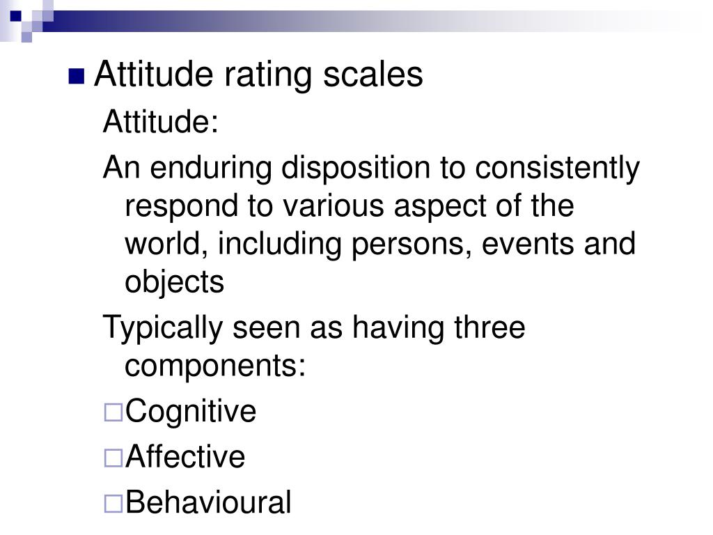 Attitude rating scales